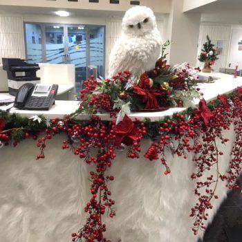Новогоднее украшение офиса Национального расчетного депозитария