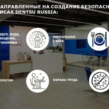 Корпоративная культура Dentsu Russia нацелена на сохранение здоровья cотрудников. Номинация «Здоровый офис»